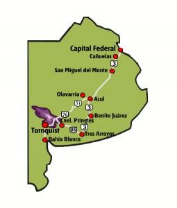 partido de Tornquist mapa
